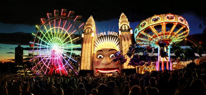 Luna Park lights up for Vivid Sydney