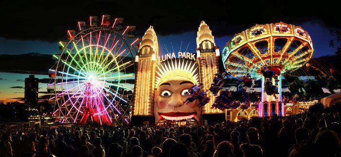 Luna Park lights up for Vivid Sydney