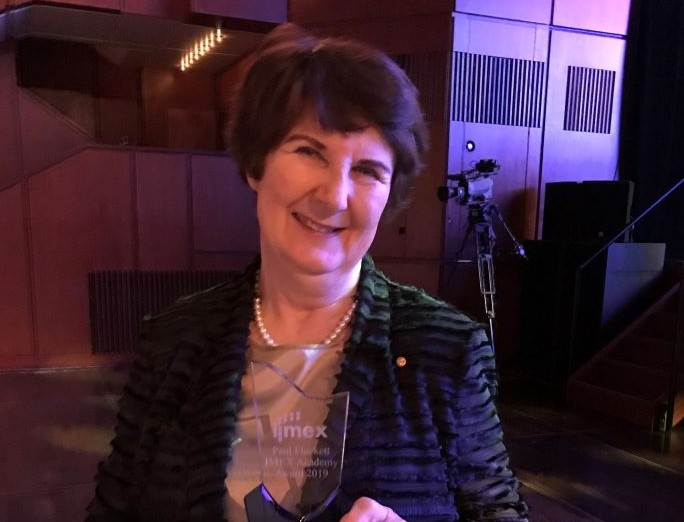 Roslyn McLeod OAM receives IMEX Academy Award